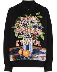 Ashish Hope Spring Eternal Sequinned Hoodie - Black