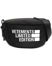 Vetements Logo-print Belt Bag - Black