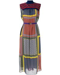 Kolor ニットパネル ドレス - マルチカラー
