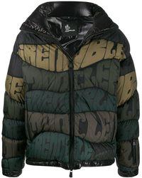 3 MONCLER GRENOBLE Logo Stripe Puffer Jacket - Black