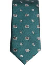 Dolce & Gabbana Галстук С Логотипом - Зеленый