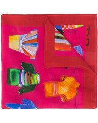 Paul Smith Einstecktuch mit Fußballtrikot-Print - Pink