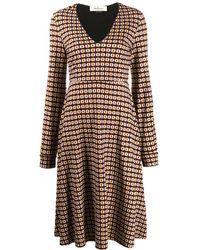 Mulberry Jasmine ジオメトリックプリント ドレス - グレー