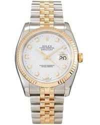 Rolex Orologio Datejust 34mm Pre-owned 2004 - Bianco
