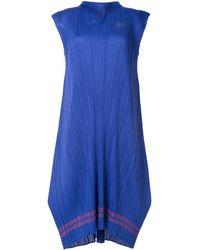 Pleats Please Issey Miyake Plissé Loose Fit Dress - Blue