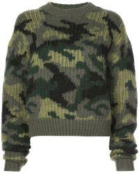 Proenza Schouler - Pswl Camo Jacquard Sweater - Lyst