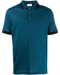 Ferragamo Embroidered Logo Polo Shirt - Blue
