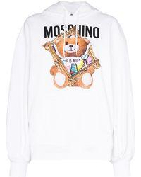 Moschino Sudadera Teddy Frame - Blanco