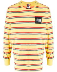 The North Face T-Shirt mit Logo-Patch - Gelb