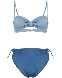 Leslie Amon Bandeau Bikini - Blauw