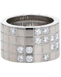 Cartier - 2010 プレオウンド Lanière ダイヤモンド リング 18kホワイトゴールド - Lyst