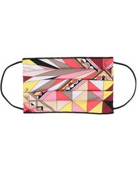 Emilio Pucci Abstract Print Face Mask - Pink