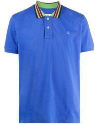 Vivienne Westwood ストライプトリム ポロシャツ - ブルー