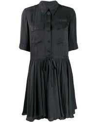 Zadig & Voltaire Satin Robe Chemise - Black