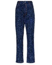 Ashish - Tinsel Sequin Embellished Straight Leg Jeans - Lyst
