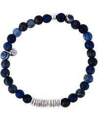 Tateossian Armband mit Perlen - Blau