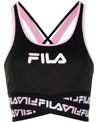 Fila Priscilla Logo-strap Bra Top - Black
