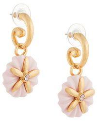 Oscar de la Renta - Morning Glory Small Pearl Earring - Lyst
