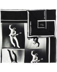 Karl Lagerfeld Guitar Hero Print Scarf - Black