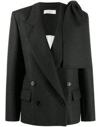 Nina Ricci Cashmere Blend Blazer - Gray