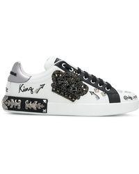 Dolce & Gabbana Portofino Sneakers - Wit