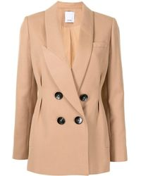 Acler Albany Double-breasted Blazer - Natural