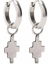 Marcelo Burlon Cross Hoop Single Earring - Metallic