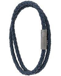 Tateossian Double Wrap Pop Rigato Bracelet - Blue