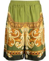 Versace Шорты С Узором Baroque - Зеленый