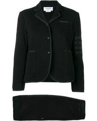 Thom Browne Loopback ジャージースーツ - ブラック