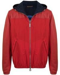 Stefano Ricci Embossed-logo Sleeve Jacket - Red