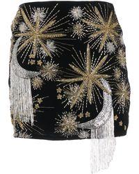 retroféte Embroidered Mini Skirt - Black