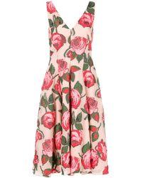 Lela Rose Vestito midi con stampa