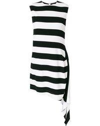 CALVIN KLEIN 205W39NYC Striped Flared Dress - Black