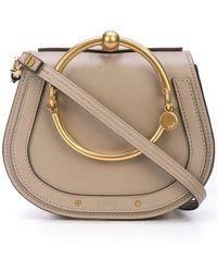 6018b51a25f9a Lyst - Chloé Black Nile Medium Leather Bracelet Bag in Black