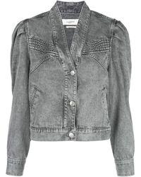 Étoile Isabel Marant Hacene Acid Wash Jacket - Gray