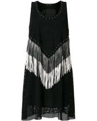 DROMe - Studded Fringe Dress - Lyst