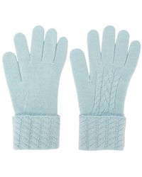N.Peal Cashmere Kasjmier Handschoenen - Blauw