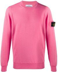 Stone Island Джемпер С Нашивкой-логотипом - Розовый