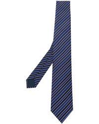 Lanvin Diagonal Stripe Tie - Blue