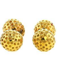 Hermès 1980s Pre-owned Yellow Gold Rigid Cufflinks - Metallic