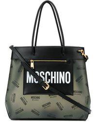 Noir En Coloris Sac Lyst Grand Moschino Main Logo À xvfwUg