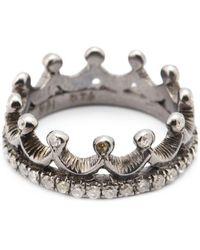 Loree Rodkin - Diamond Crown Mid Finger Ring - Lyst