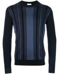 Brioni Striped jumper - Bleu