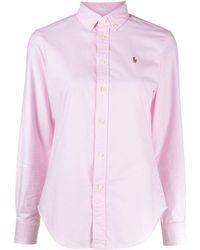 Polo Ralph Lauren Logo Embroidered Shirt - Pink
