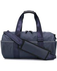 DIESEL Reisetasche mit Logo-Print - Blau