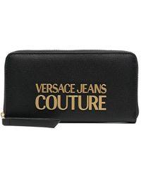 Versace Jeans Couture Logo-plaque Wallet - Black