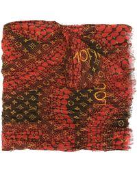 Louis Vuitton Шарф Waves Infinity С Монограммой Из Коллаборации С Kusama Yayoi Pre-owned - Красный