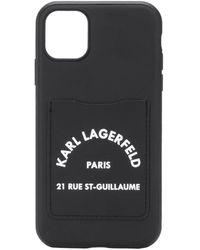 Karl Lagerfeld Cardslot Iphone 11 Case - Black