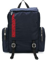 CALVIN KLEIN 205W39NYC Logo Cargo Backpack - Синий